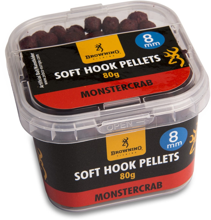 Pelety Browning Soft Hook Pellets 8mm/80g - Monstercrab