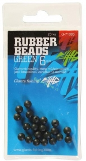 Gumové kuličky Rubber Beads Transparent Green - 3mm